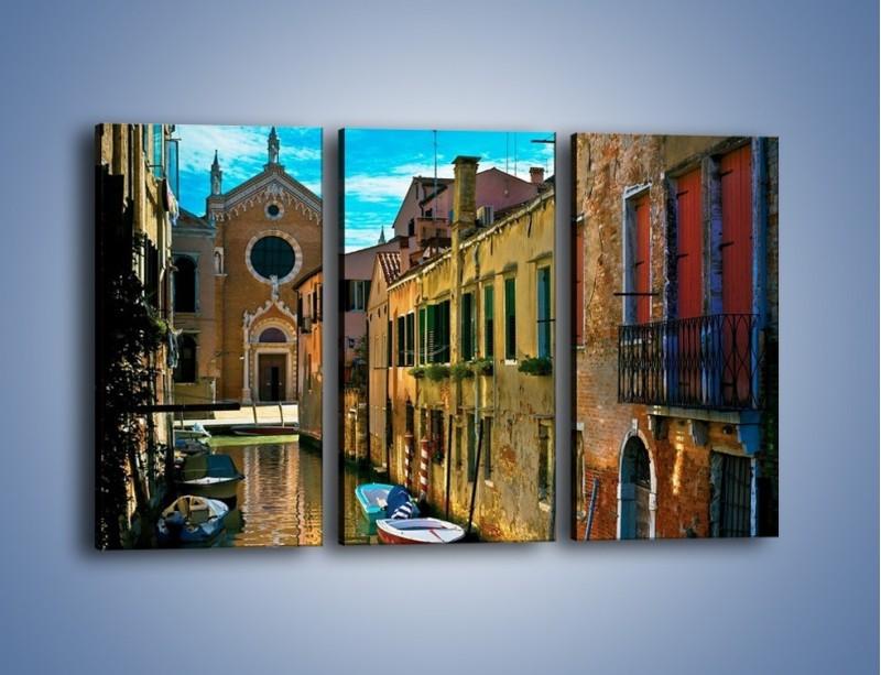 Obraz na płótnie – Cały urok Wenecji w jednym kadrze – trzyczęściowy AM371W2
