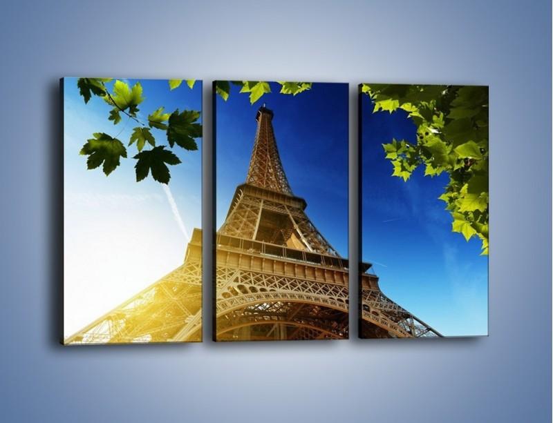 Obraz na płótnie – Wieża Eiffla w pełnej krasie – trzyczęściowy AM372W2