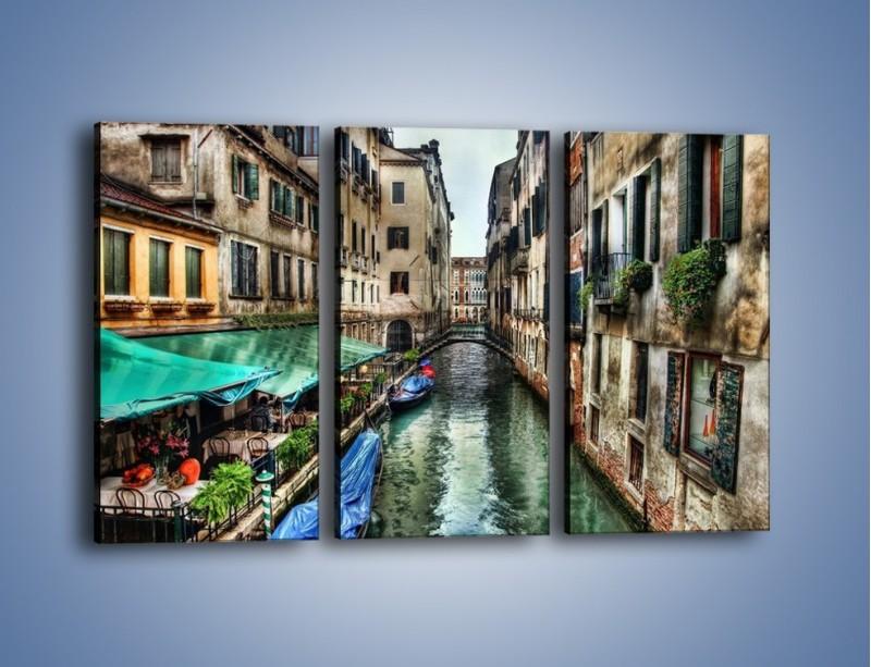 Obraz na płótnie – Wenecka uliczka w kolorach HDR – trzyczęściowy AM374W2
