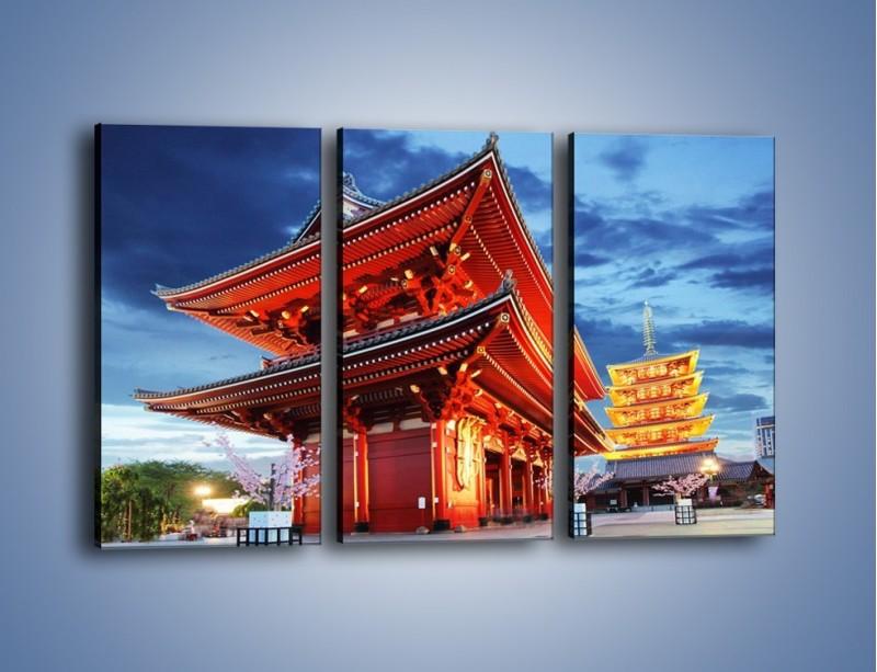 Obraz na płótnie – Świątynia Senso-ji w Tokyo – trzyczęściowy AM378W2