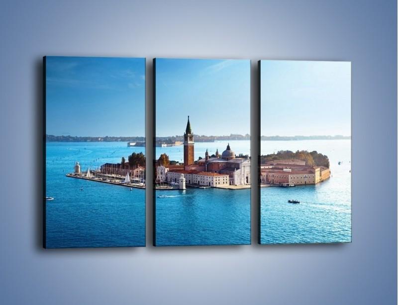 Obraz na płótnie – Wyspa San Giorgio Maggiore – trzyczęściowy AM380W2