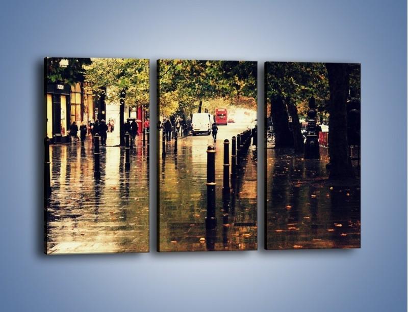 Obraz na płótnie – Deszczowa jesień w Moskwie – trzyczęściowy AM383W2