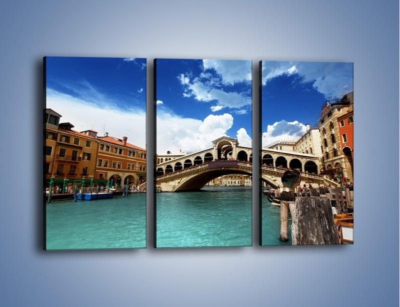 Obraz na płótnie – Most Rialto w Wenecji – trzyczęściowy AM386W2
