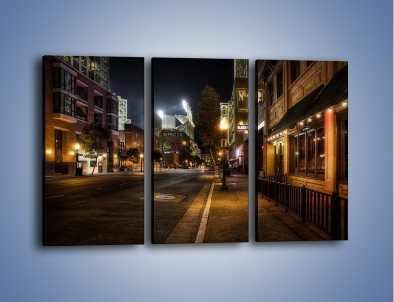 Obraz na płótnie – Ulica San Diego w Kaliforni – trzyczęściowy AM390W2