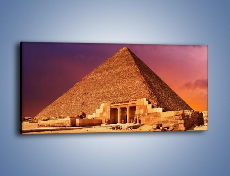 Obraz na płótnie – Piramida w Egipcie – jednoczęściowy panoramiczny AM812
