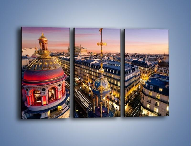 Obraz na płótnie – Paryska architektura – trzyczęściowy AM402W2