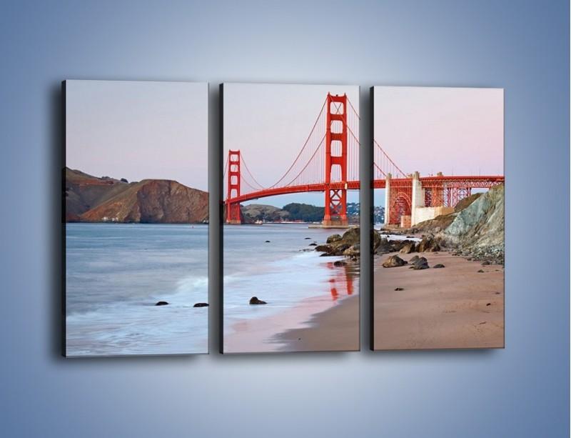 Obraz na płótnie – Most Golden Gate – trzyczęściowy AM406W2