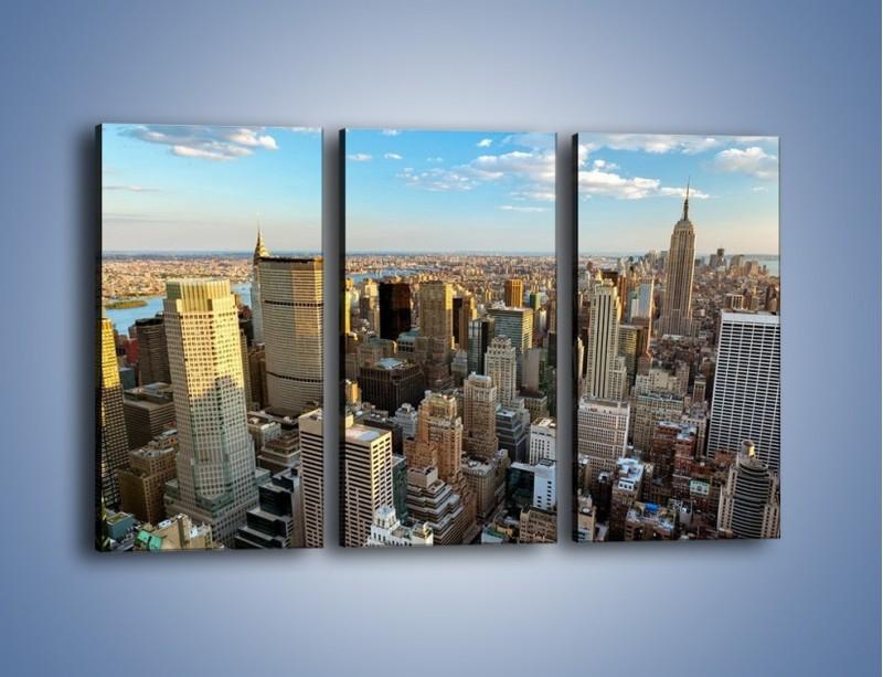 Obraz na płótnie – Manhattan w Nowym Yorku – trzyczęściowy AM412W2