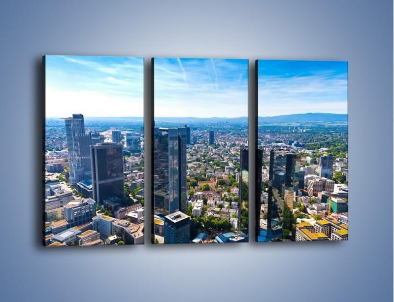 Obraz na płótnie – Panorama Frankfurtu – trzyczęściowy AM414W2