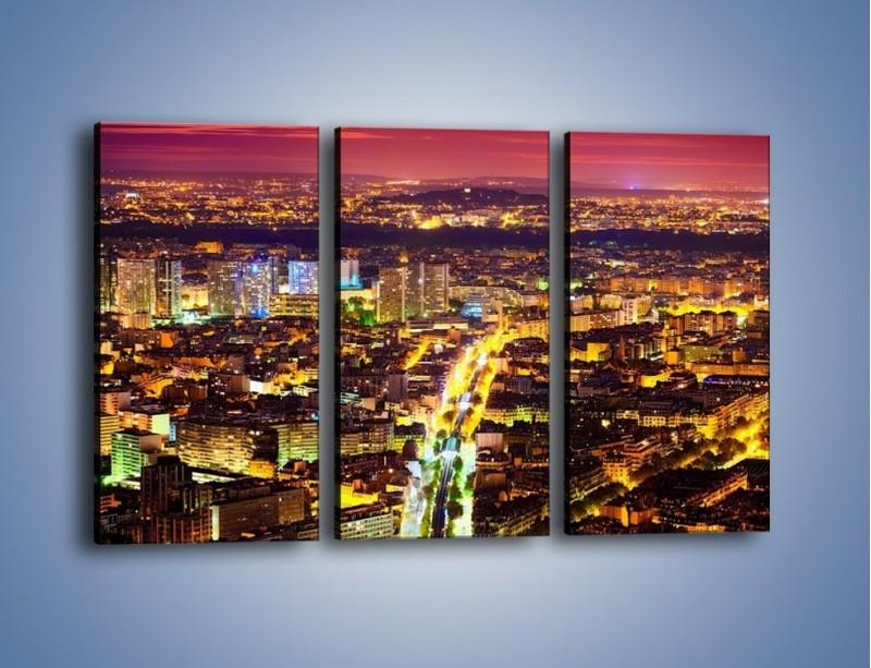 Obraz na płótnie – Kolory Paryża nocą – trzyczęściowy AM419W2