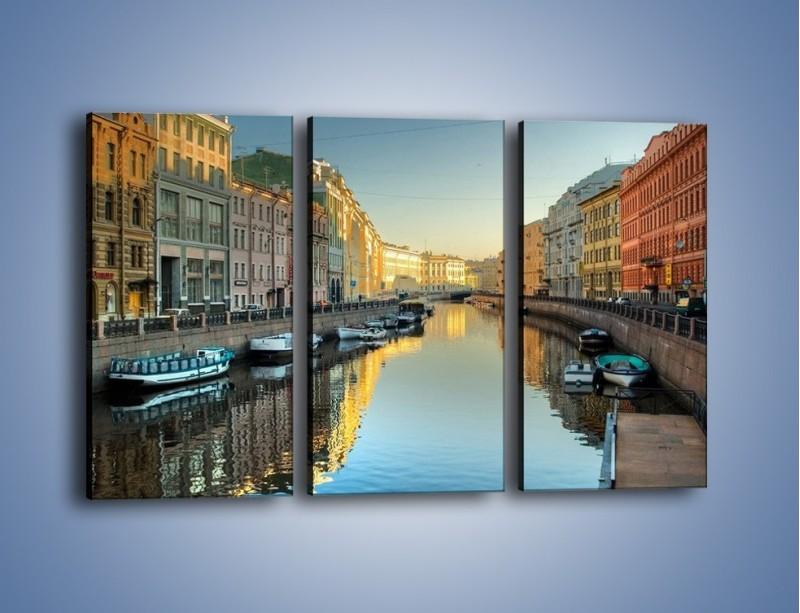 Obraz na płótnie – Kanał wodny w St. Petersburgu – trzyczęściowy AM422W2