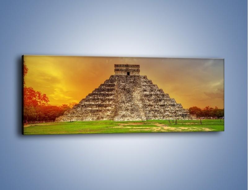 Obraz na płótnie – Piramida Kukulkana w Meksyku – jednoczęściowy panoramiczny AM814