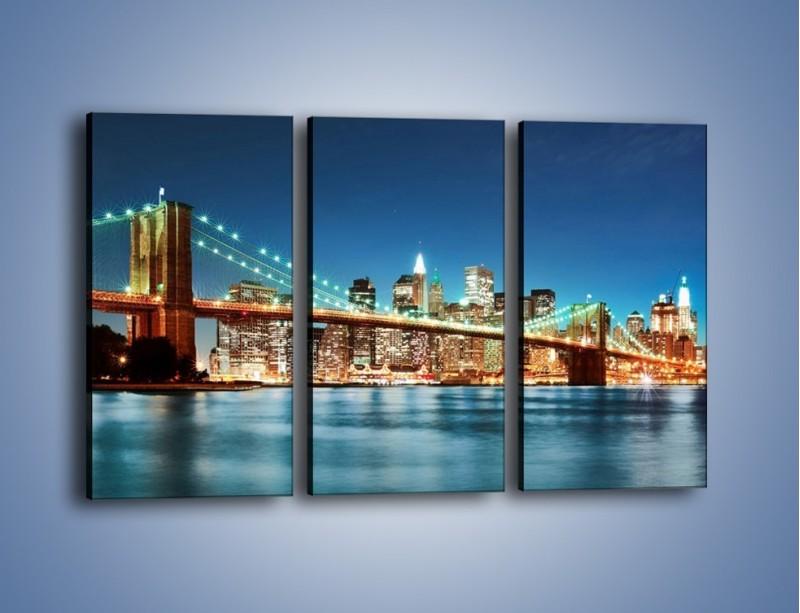 Obraz na płótnie – Most Brookliński na tle Nowego Jorku – trzyczęściowy AM428W2