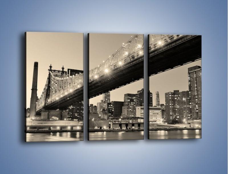 Obraz na płótnie – Most Qeensboro w Nowym Yorku – trzyczęściowy AM438W2