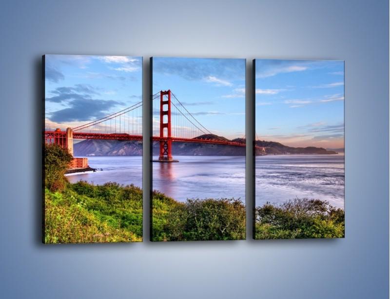 Obraz na płótnie – Most Golden Gate w San Francisco – trzyczęściowy AM444W2
