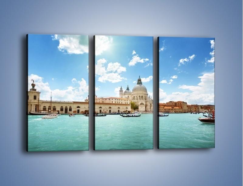 Obraz na płótnie – Canal Grande w Wenecji – trzyczęściowy AM449W2