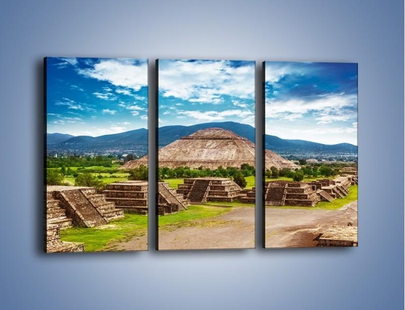 Obraz na płótnie – Piramida Słońca w Meksyku – trzyczęściowy AM450W2