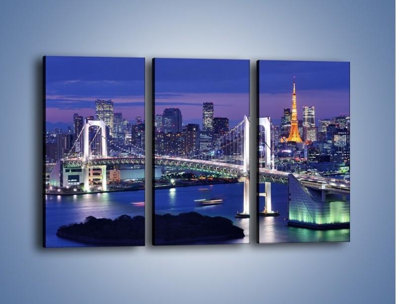 Obraz na płótnie – Tęczowy Most w Tokyo – trzyczęściowy AM460W2