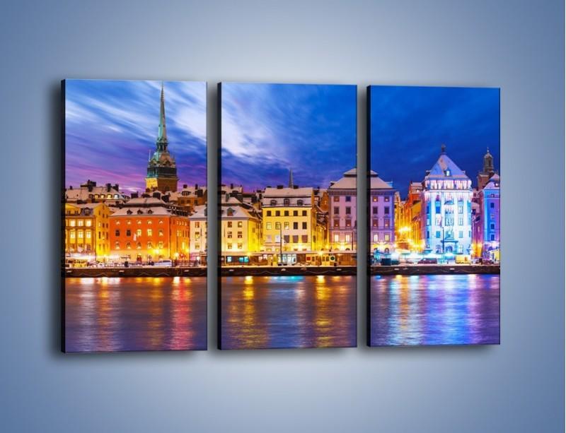 Obraz na płótnie – Sztokholm w zimowej scenerii – trzyczęściowy AM468W2