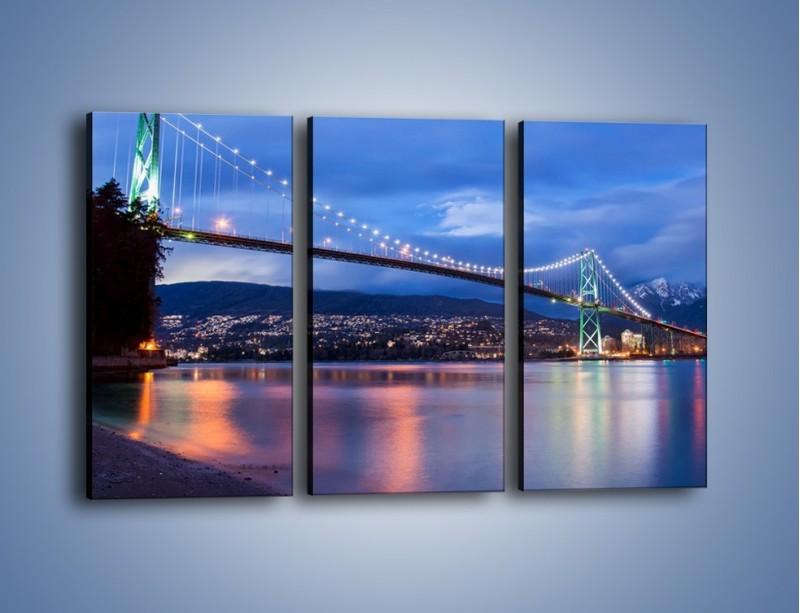 Obraz na płótnie – Most Lions Gate w Vancouver – trzyczęściowy AM471W2