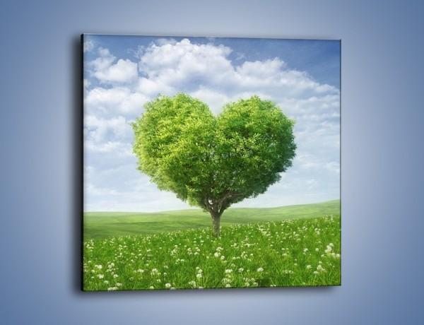 Obraz na płótnie – Miłość w zieleni – jednoczęściowy kwadratowy GR250