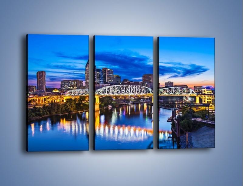 Obraz na płótnie – Most Shelby Street w Nashville – trzyczęściowy AM489W2