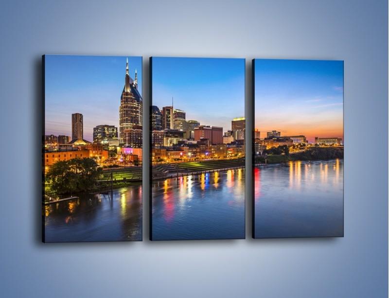 Obraz na płótnie – Nashville nad rzeką Cumberland – trzyczęściowy AM491W2
