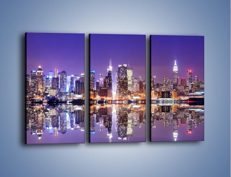Obraz na płótnie – Panorama Midtown Manhattan – trzyczęściowy AM492W2