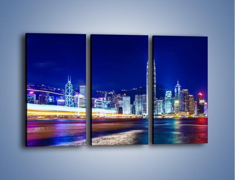 Obraz na płótnie – Panorama Hong Kongu – trzyczęściowy AM499W2