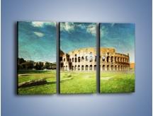 Obraz na płótnie – Koloseum w stylu vintage – trzyczęściowy AM503W2
