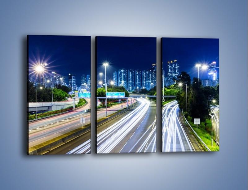 Obraz na płótnie – Autostrada prowadząca do Hong Kongu – trzyczęściowy AM504W2