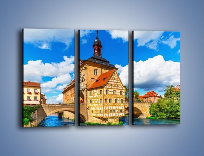 Obraz na płótnie – Ratusz w mieście Bamberg – trzyczęściowy AM513W2