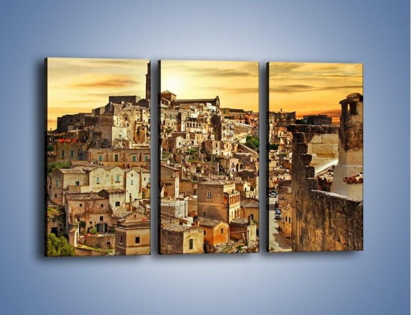 Obraz na płótnie – Matera – miasto wykute w skale – trzyczęściowy AM517W2