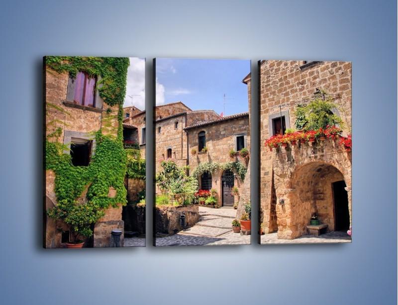 Obraz na płótnie – Romantyczna uliczka we Włoszech – trzyczęściowy AM533W2