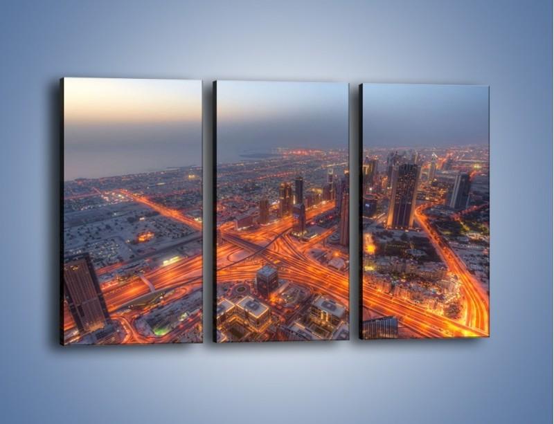 Obraz na płótnie – Panorama Dubaju o poranku – trzyczęściowy AM538W2