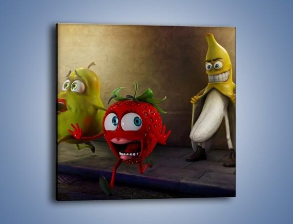 Obraz na płótnie – Strach w owocowych oczach – jednoczęściowy kwadratowy GR253