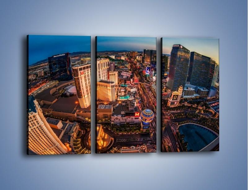 Obraz na płótnie – Centrum Las Vegas – trzyczęściowy AM588W2