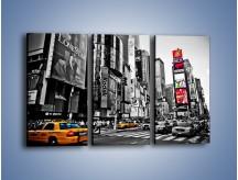 Obraz na płótnie – Times Square w godzinach szczytu – trzyczęściowy AM598W2