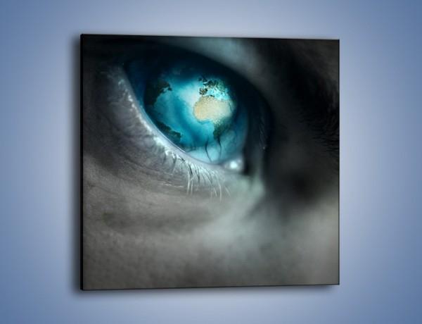 Obraz na płótnie – Oko otwarte na świat – jednoczęściowy kwadratowy GR256