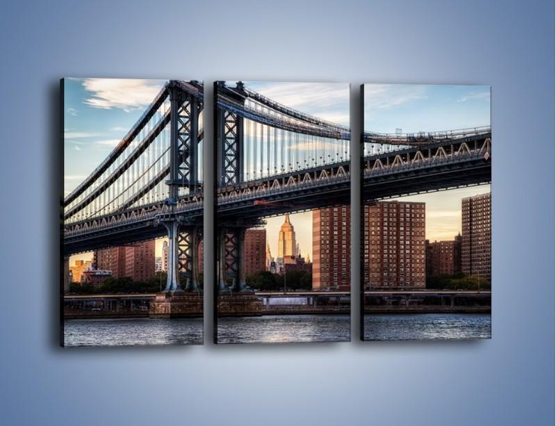 Obraz na płótnie – Manhattan Bridge – trzyczęściowy AM607W2