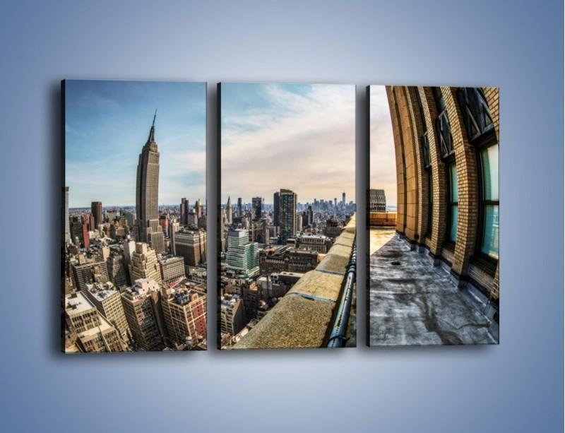 Obraz na płótnie – Empire State Building na Manhattanie – trzyczęściowy AM610W2