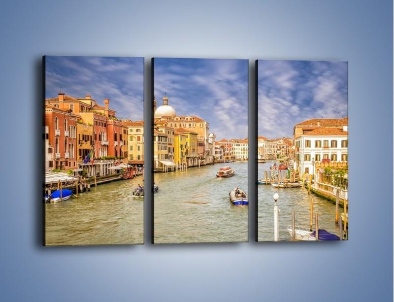 Obraz na płótnie – Canal Grande w Wenecji o poranku – trzyczęściowy AM617W2