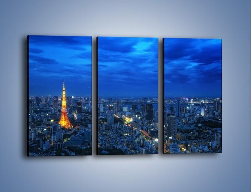 Obraz na płótnie – Tokyo Tower w Japonii – trzyczęściowy AM621W2