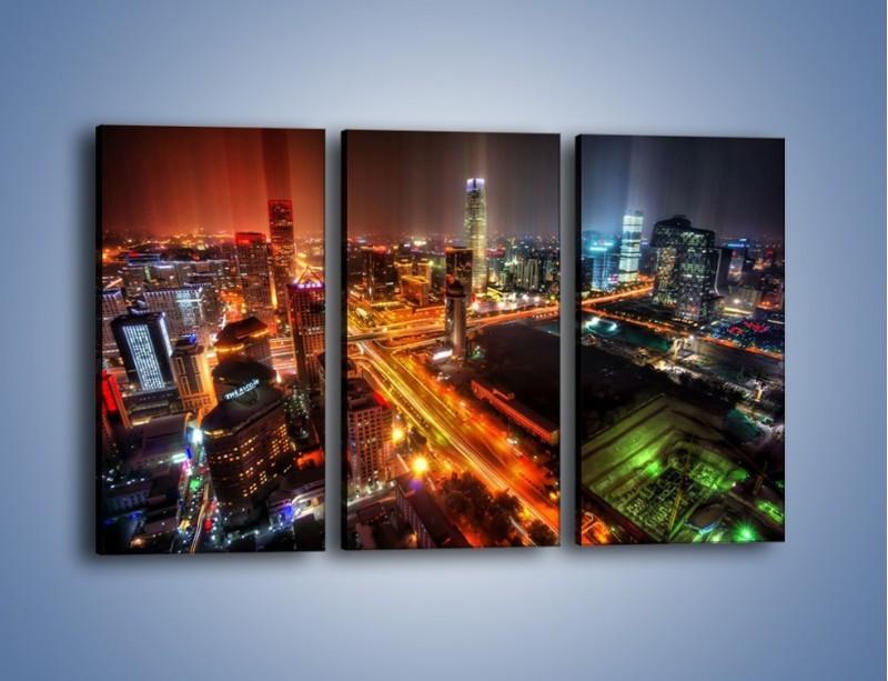Obraz na płótnie – Niesamowite kolory Pekinu – trzyczęściowy AM632W2