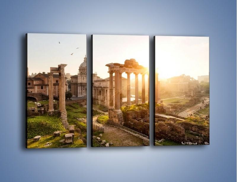 Obraz na płótnie – Starożytna architektura Rzymu – trzyczęściowy AM638W2