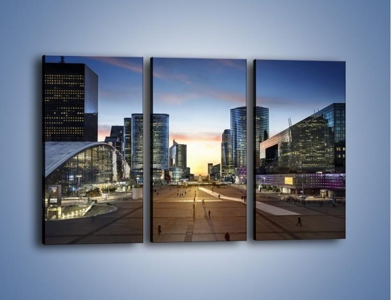 Obraz na płótnie – Quartier La Défense w Paryżu – trzyczęściowy AM647W2