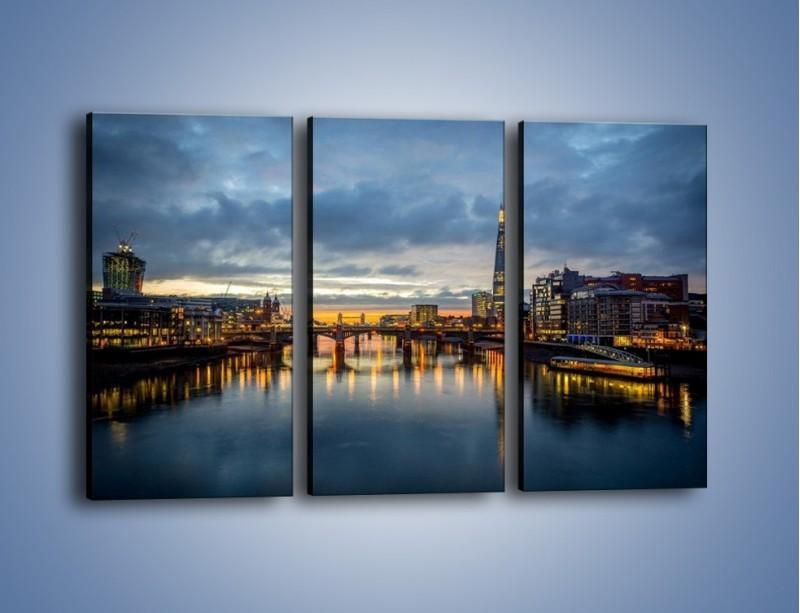 Obraz na płótnie – Millennium Bridge w Londynie – trzyczęściowy AM651W2