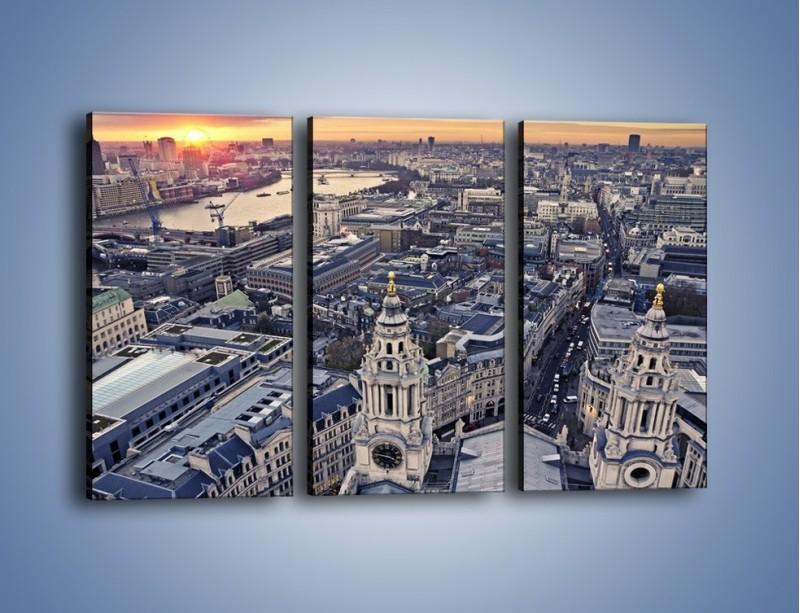 Obraz na płótnie – Widok na Londyn z Katedry św. Pawła – trzyczęściowy AM652W2