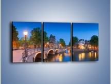 Obraz na płótnie – Most nad kanałem w Holandii – trzyczęściowy AM666W2