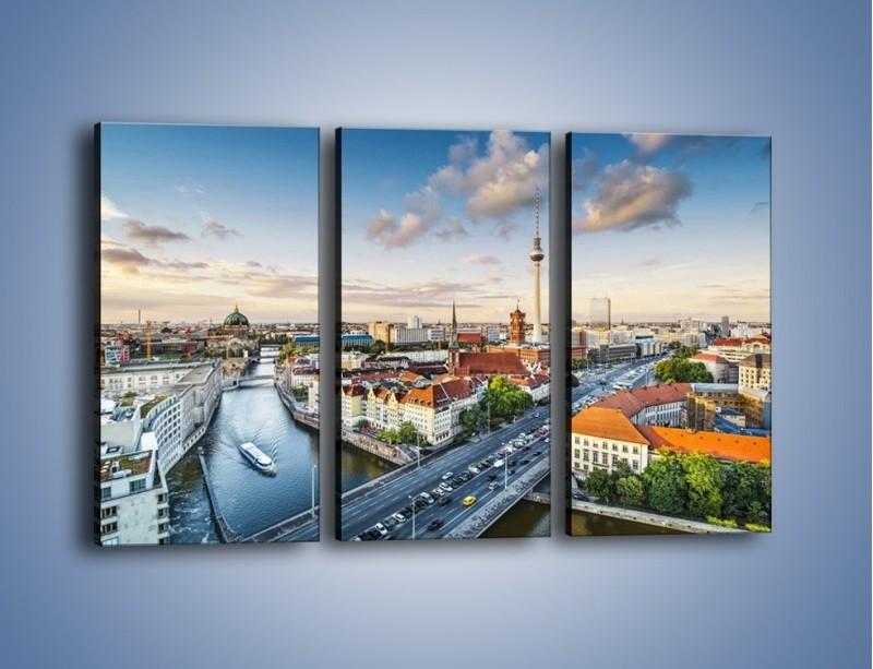 Obraz na płótnie – Panorama Berlina – trzyczęściowy AM673W2